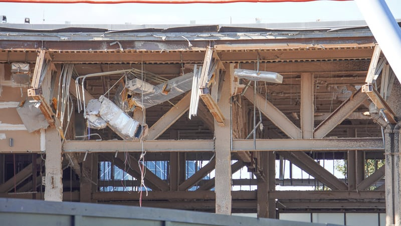 Innoventions Demolition roof Epcot Future World Construction Update December 2019