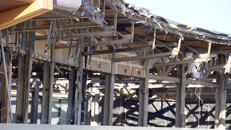 close up of Innoventions Demolition Epcot Future World Construction Update December 2019