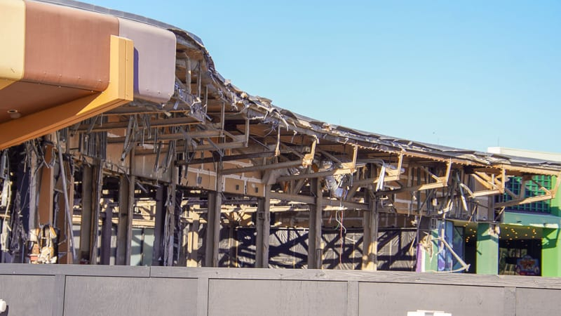 Innoventions Demolition front Epcot Future World Construction Update December 2019