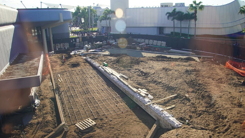 Paving East of Spaceship Earth Epcot Future World Construction Update December 2019