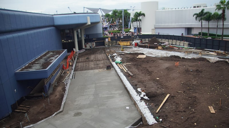 Paving East Side Walkway Epcot Future World Construction Update December 2019