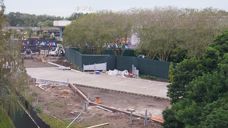 paving walkway between Mouse Gear and Test Track Epcot Future World Construction Update December 2019
