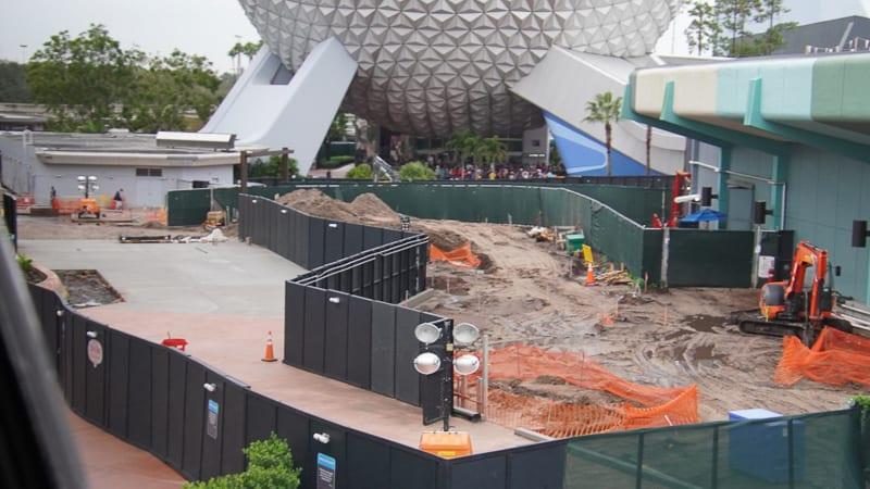 paving Epcot West Walkway Future World Construction Update December 2019
