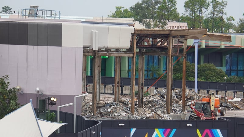 Innoventions West Demolition Club Cool Epcot Future World Construction Update December 2019