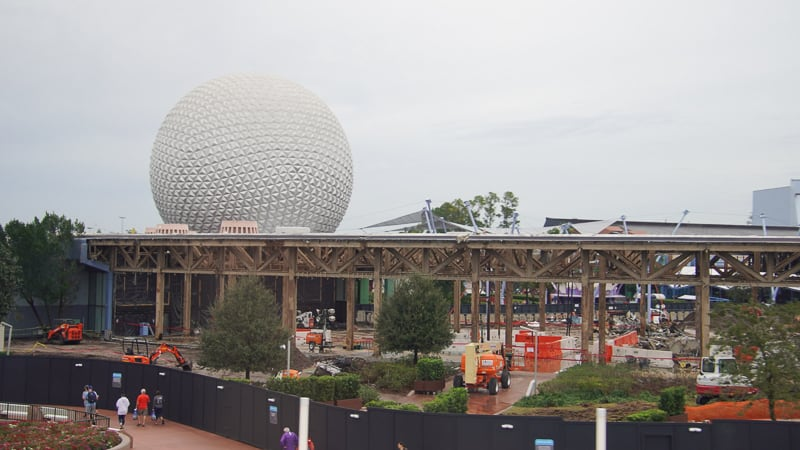 Innoventions West Demolition Spaceship Earth background Future World Construction Update December 2019