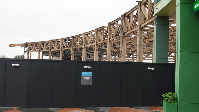 Front of Innoventions West demolition Epcot Future World Construction Update December 2019