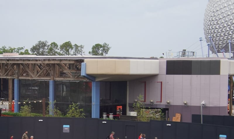 South End Innoventions West demolition Epcot Future World Construction Update December 2019