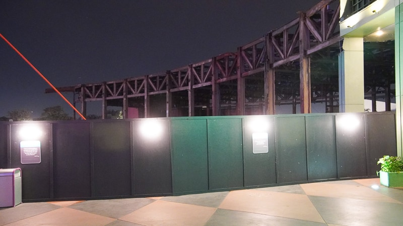 Innoventions Demolition at night in Epcot Future World