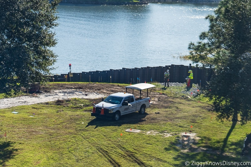 surveying the land for Grand Floridian Magic Kingdom Walkway Construction Updates December 2019