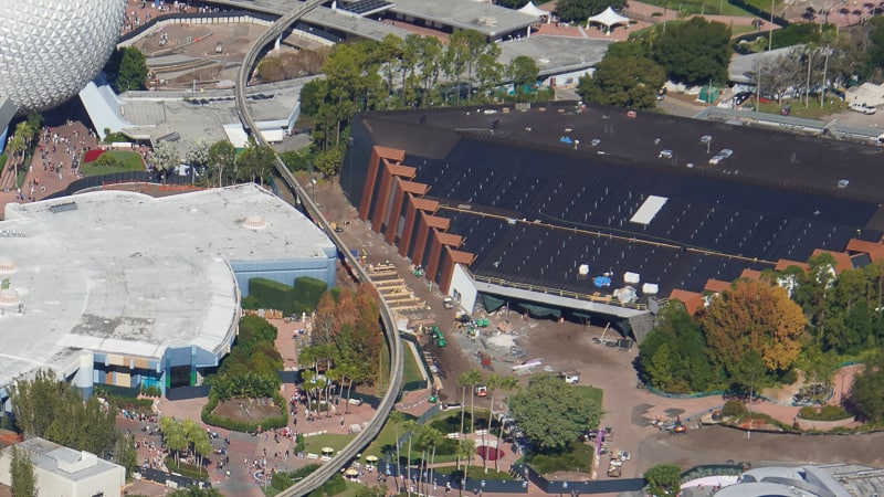 Aerial View Guardians of the Galaxy Coaster Construction Update December 2019