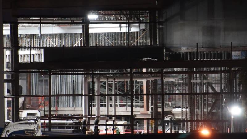 inside at night Galaxy Coaster Construction Update December 2019