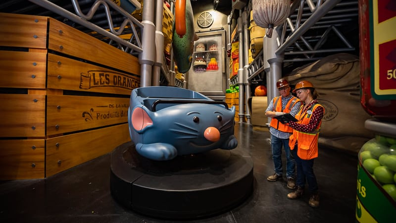 Remy's Ratatouille Adventure attraction ride vehicle