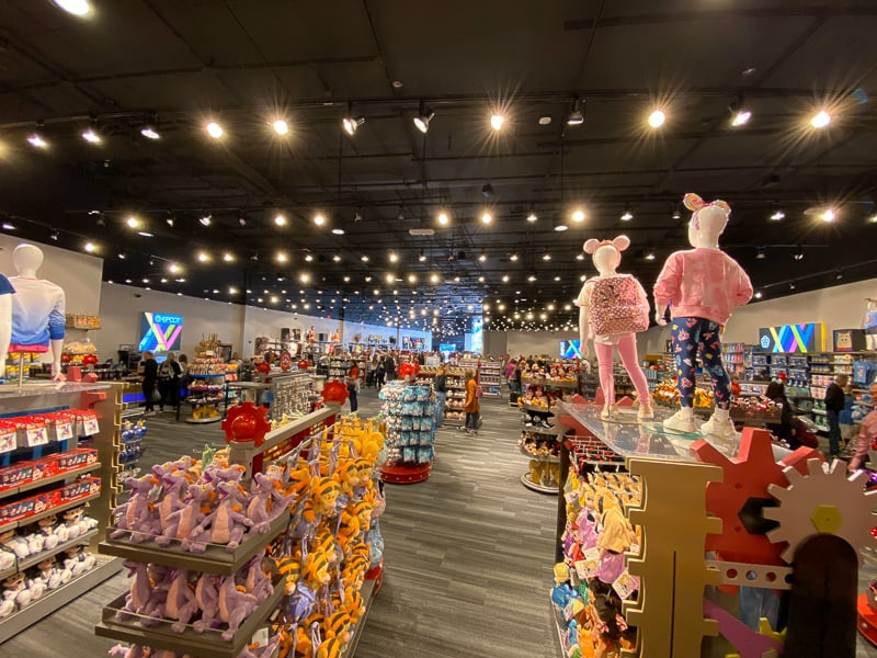 Inside the new temporary MouseGear Epcot