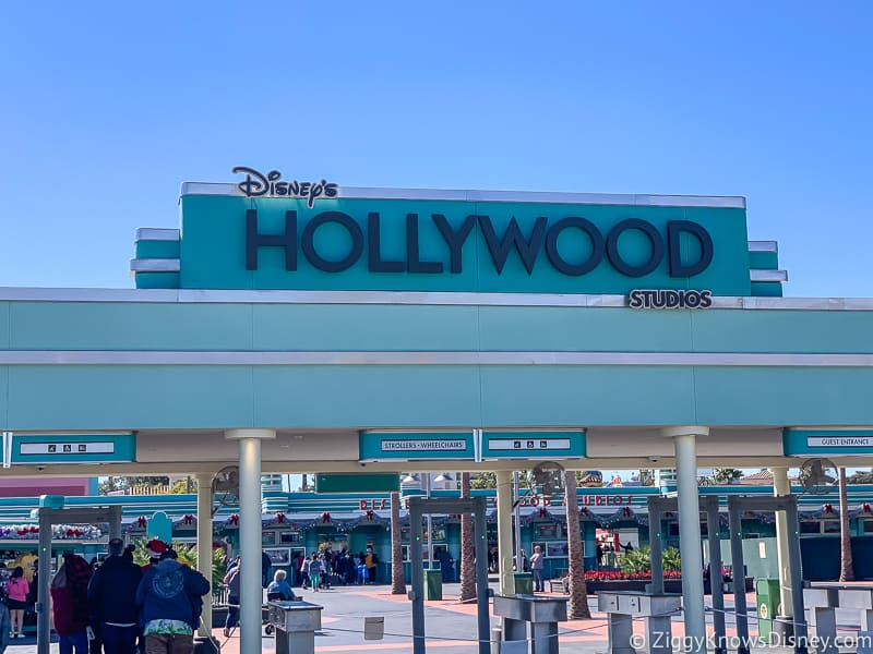New Hollywood Studios Sign outside park