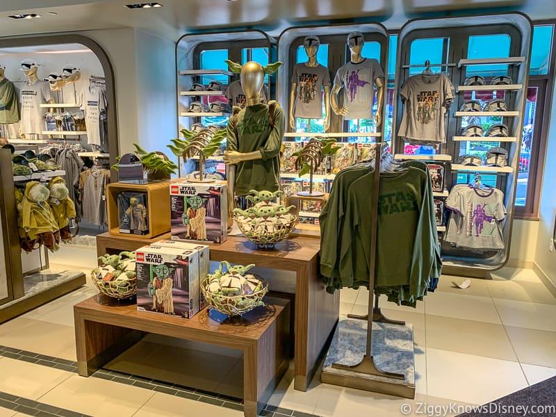New Yoda merchandise display in Hollywood Studios
