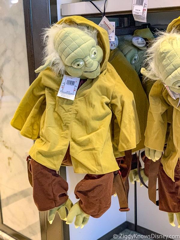 Yoda backpack display in Hollywood Studios
