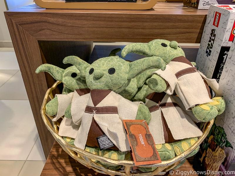 New Baby Yoda merchandise display in Hollywood Studios