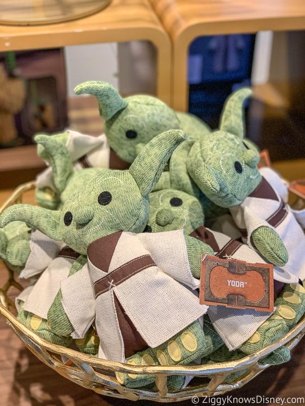 Baby Yoda merchandise display in Hollywood Studios