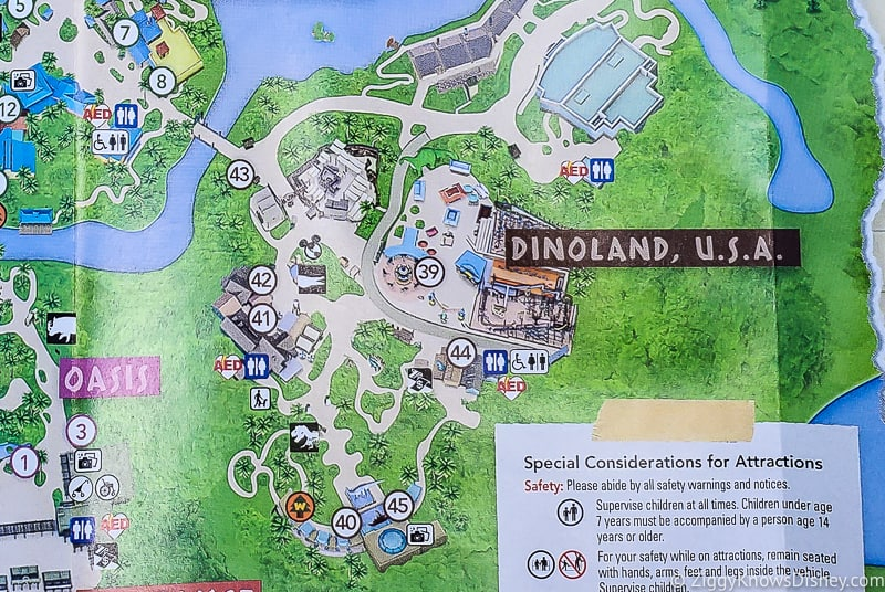 Primeval Whirl removed from Animal Kingdom Park Map