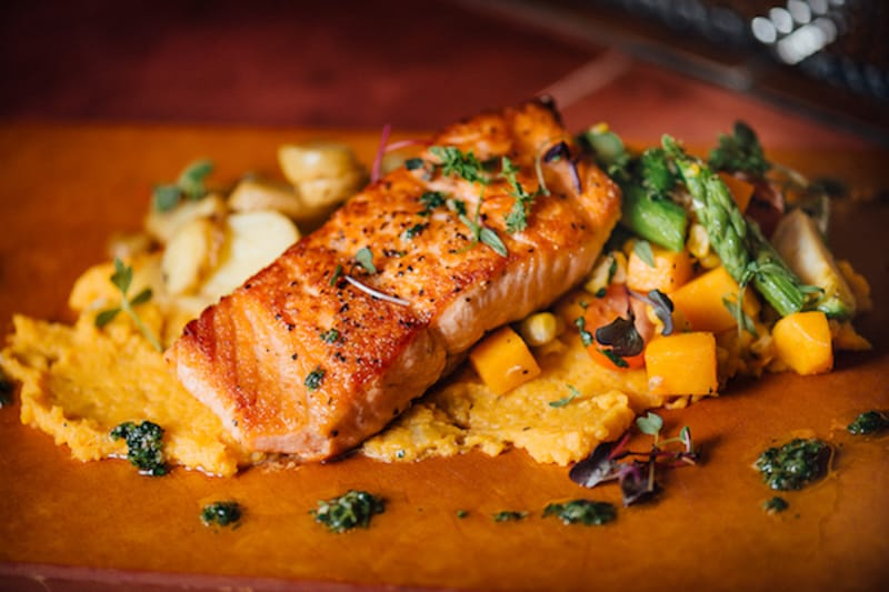 Salmon at City Works Eatery & Pour House