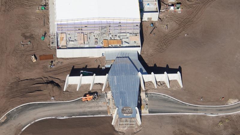 Drop-off area Star Wars Hotel Construction Update December 2019