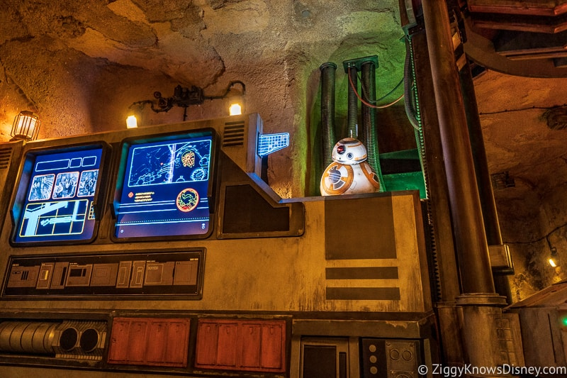BB8 in Star Wars: Rise of the Resistance queue