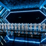 Star Wars: Rise of the Resistance ride hanger bay full of stormtroopers