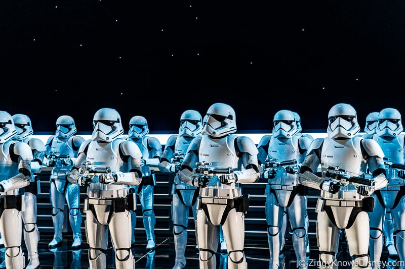 Stormtroopers in Star Wars: Rise of the Resistance ride
