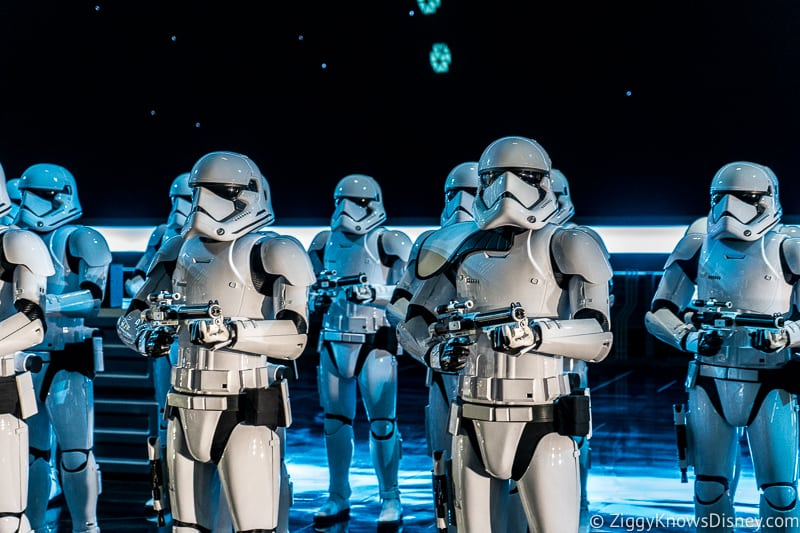 Stormtroopers in Star Wars: Rise of the Resistance attraction