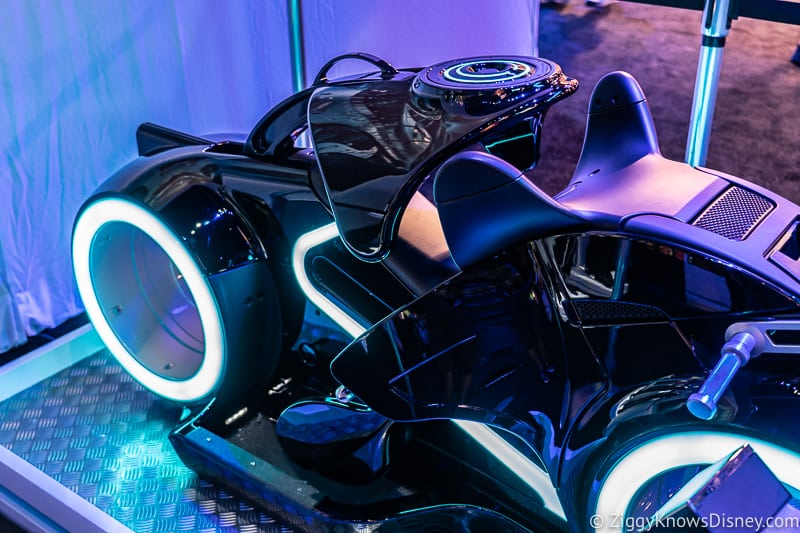 side front of Tron Lightcycle Run ride vehicle