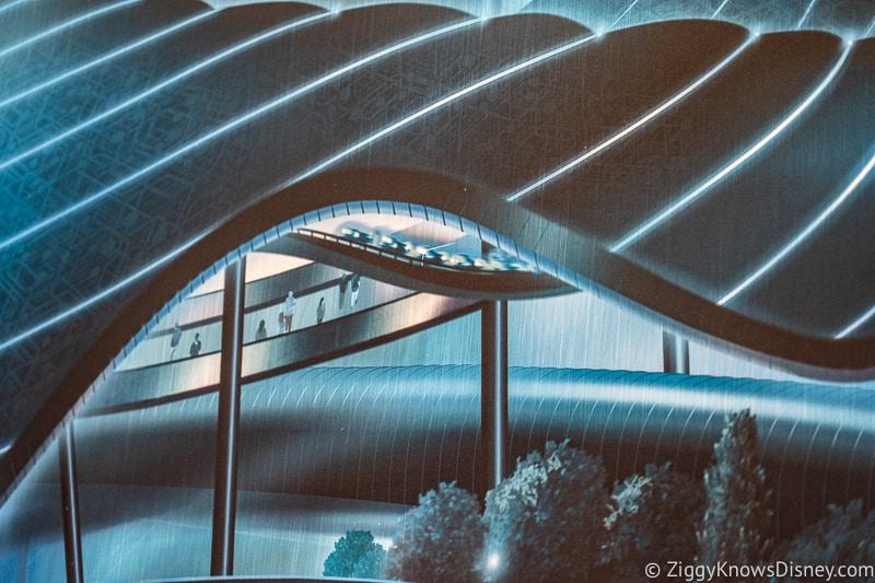 Tron Lightcycle Run Magic Kingdom Concept Art canopy