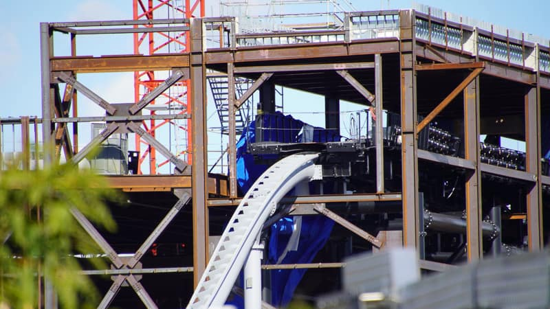 where Tron Coaster returns to show building December 2019