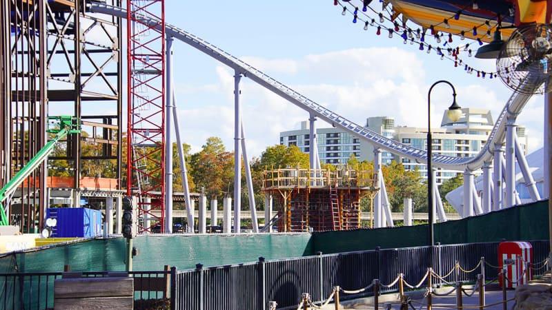 New Concrete form Tron Coaster Construction Update December 2019