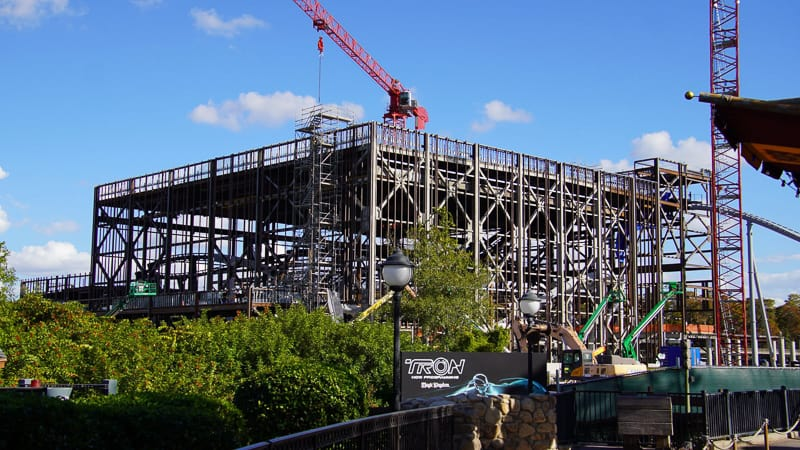 Tron Coaster Construction from Storybook circus Update December 2019