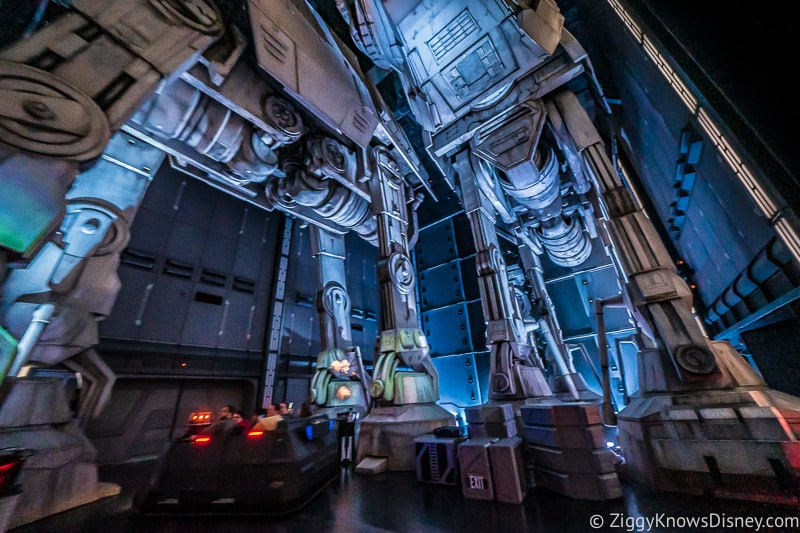 AT-AT room in Rise of the Resistance FastPass Galaxy's Edge