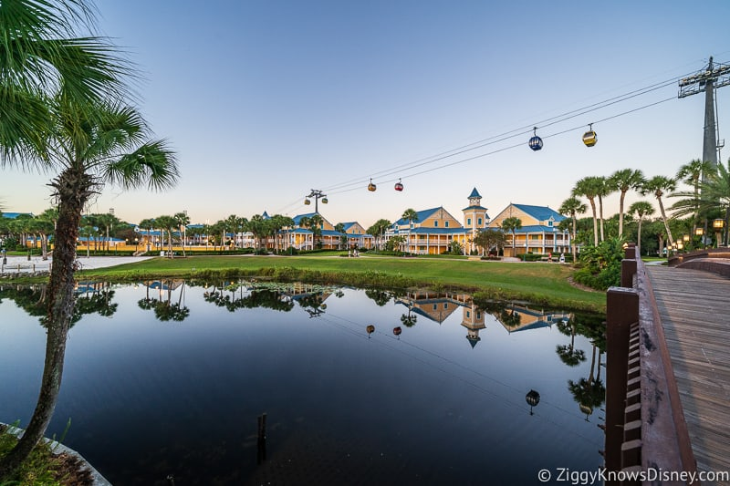 Disney Skyline over the Caribbean Beach Resort