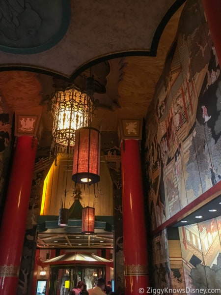 The Great Movie Ride queue inside the Chinese Theater lights