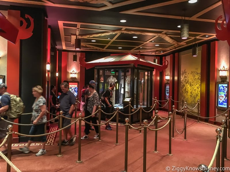 The Great Movie Ride queue inside the Chinese Theater