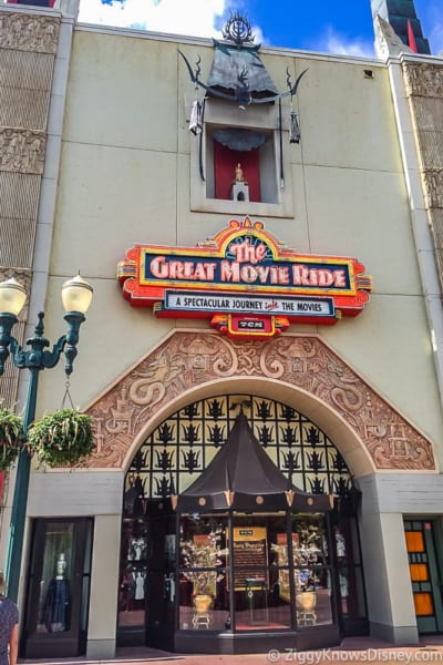 The Great Movie Ride Sign outside Chinese Theater