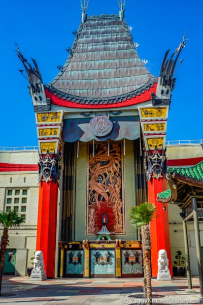 Chinese Theater outside Mickey and Minnie's Runaway Railway