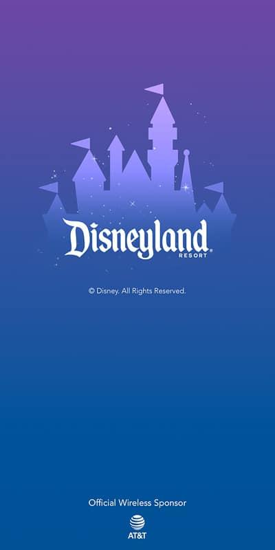 Disneyland App home screen