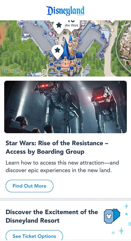 join a boarding group rise of the Resistance Disneyland