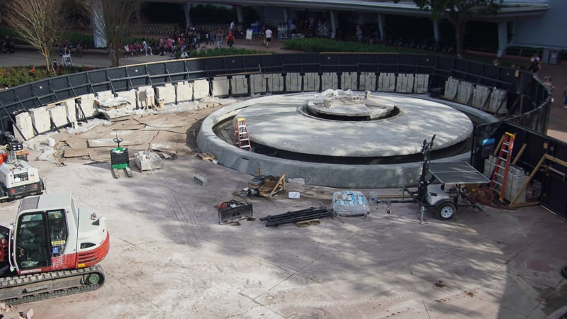 Epcot Entrance Construction Updates January 2020 fountain