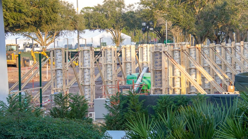 Epcot Entrance Construction Updates January 2020 columns east side