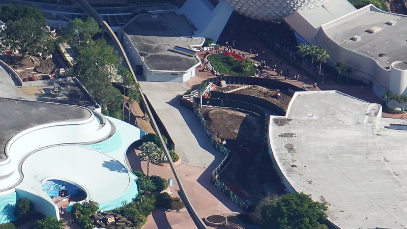 Epcot Future World Construction Updates January 2020 pathway to The Seas