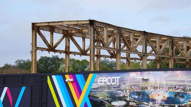 Epcot Future World Construction Updates January 2020 steel frame close