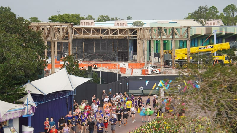 Epcot Future World Construction Updates January 2020 from monorail