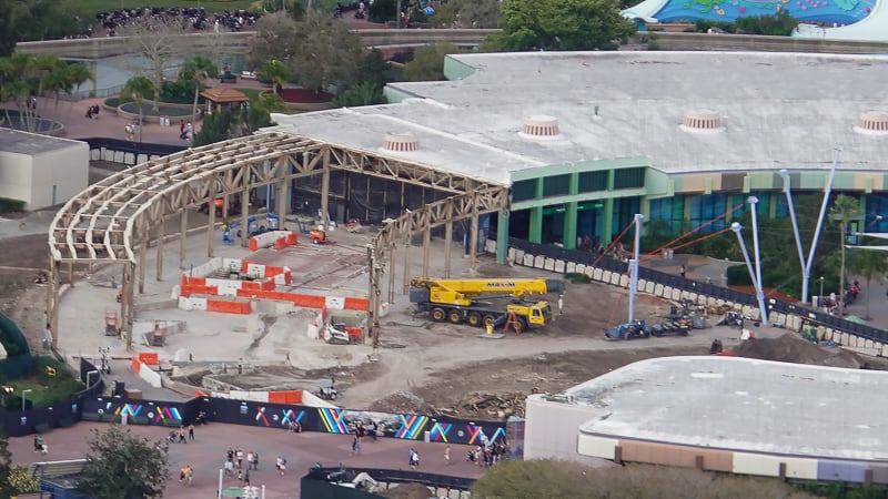 Epcot Future World Construction Updates January 2020 Aerial half demolished club cool