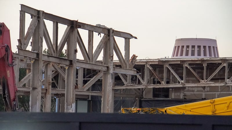 Epcot Future World Construction Updates January 2020 top of roof
