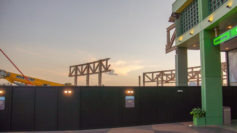 Epcot Future World Construction Updates January 2020 innoventions sunset